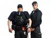 Edd und Lefou als Security