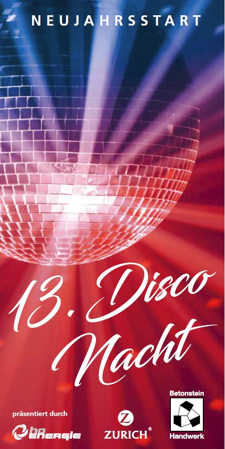 13. Disco Nacht Flyer 1